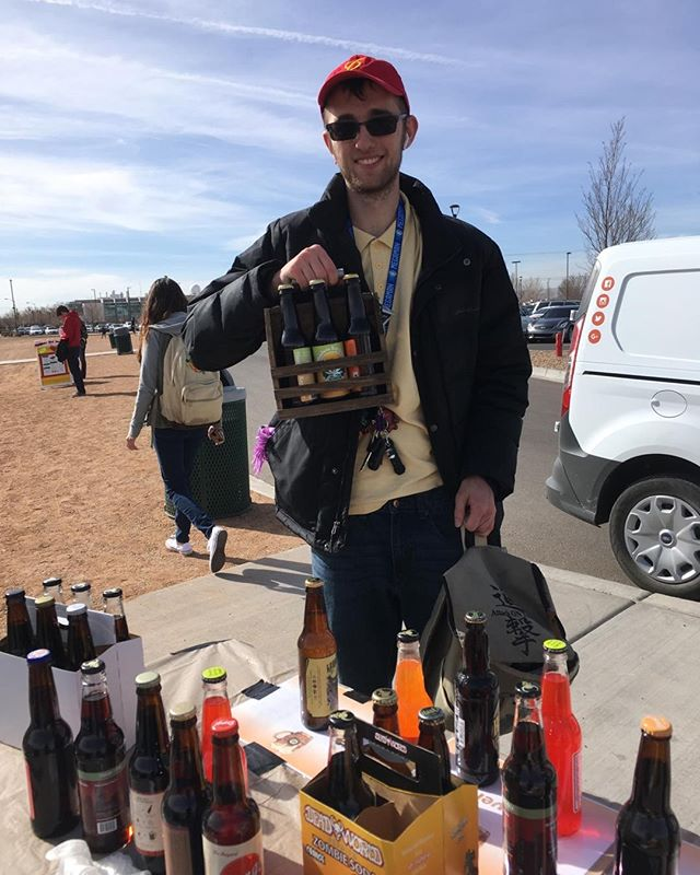 Just bought one of our wooden bottle holders filled with six craft sodas. Whoohoo!! He wanted the holder so he could bring it to fill up the next time. Great idea.