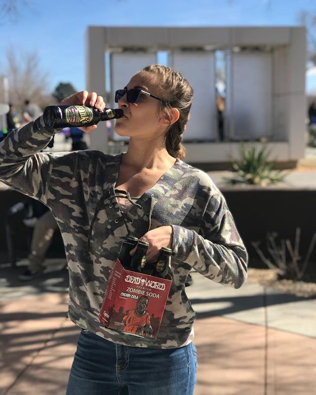 This college-bound was so happy with her first Soda she came back for a four pack!!