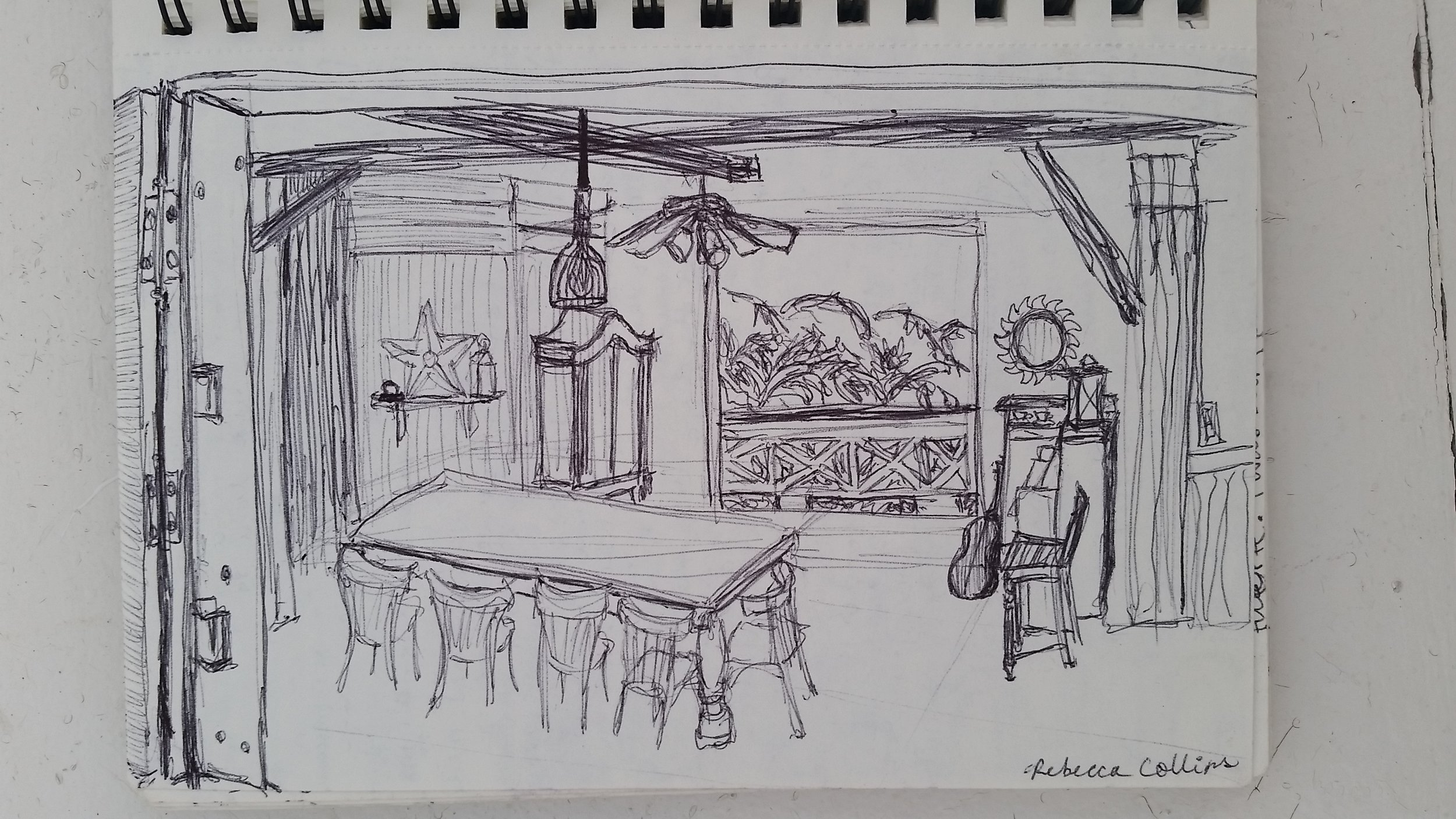 My sketch of a coffee farm house in Puerto Rico