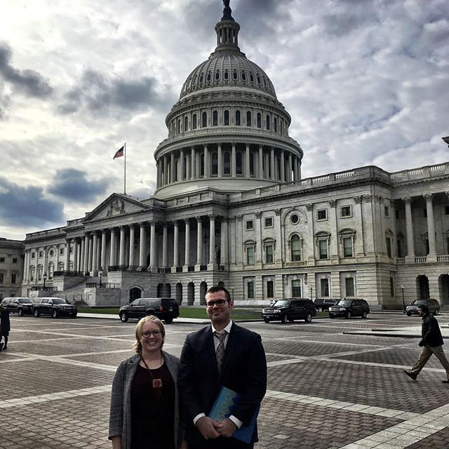 Combplex cofounders Hailey and Nathan on Capitol Hill to talk about #researchtostartup #science and #pollinators
