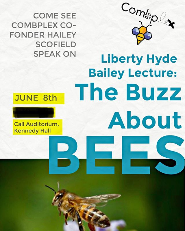 In Ithaca? Come see our Hailey speak on a panel for bee health!! Friday June, 8th from 1-2:30