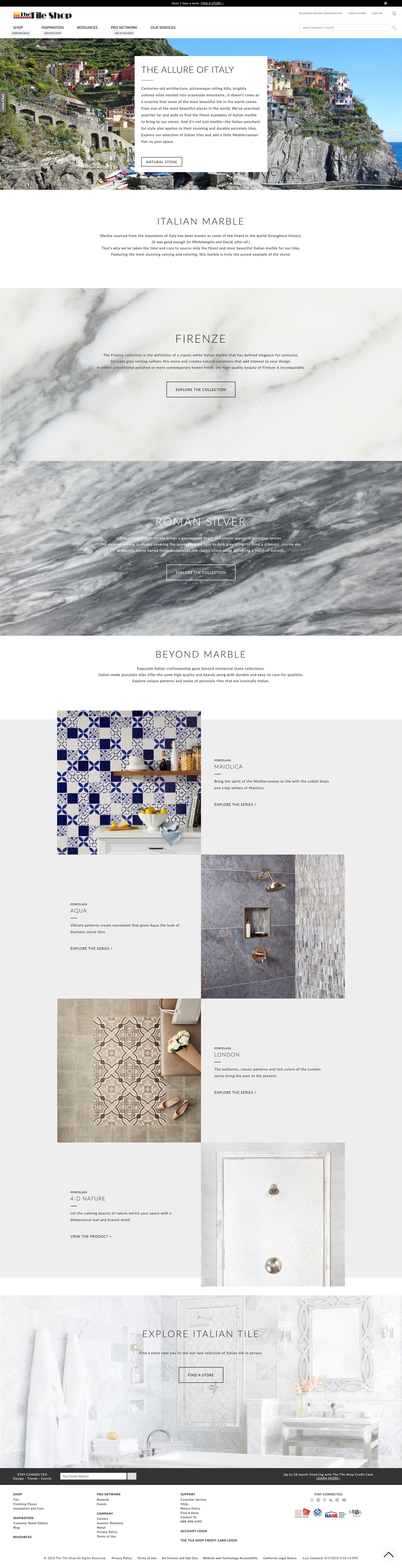 Italian Tile for Elle Decor, March 2019