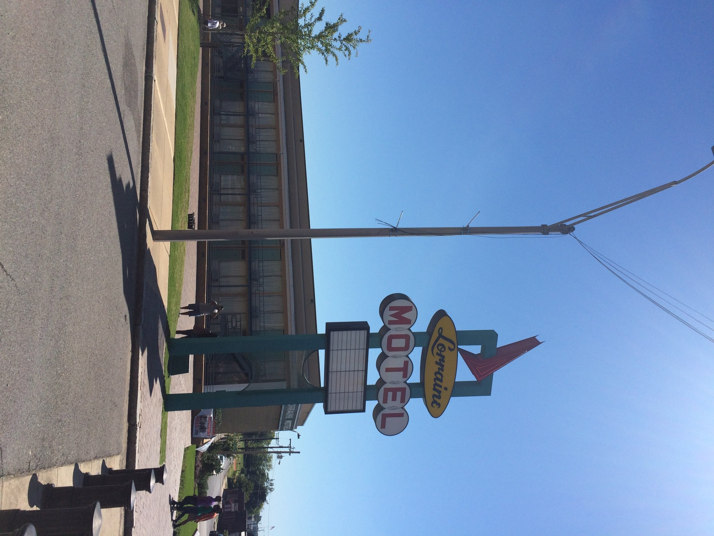 an outdoor photo of the National Civil Rights Museum at the Lorraine Motel in Memphis