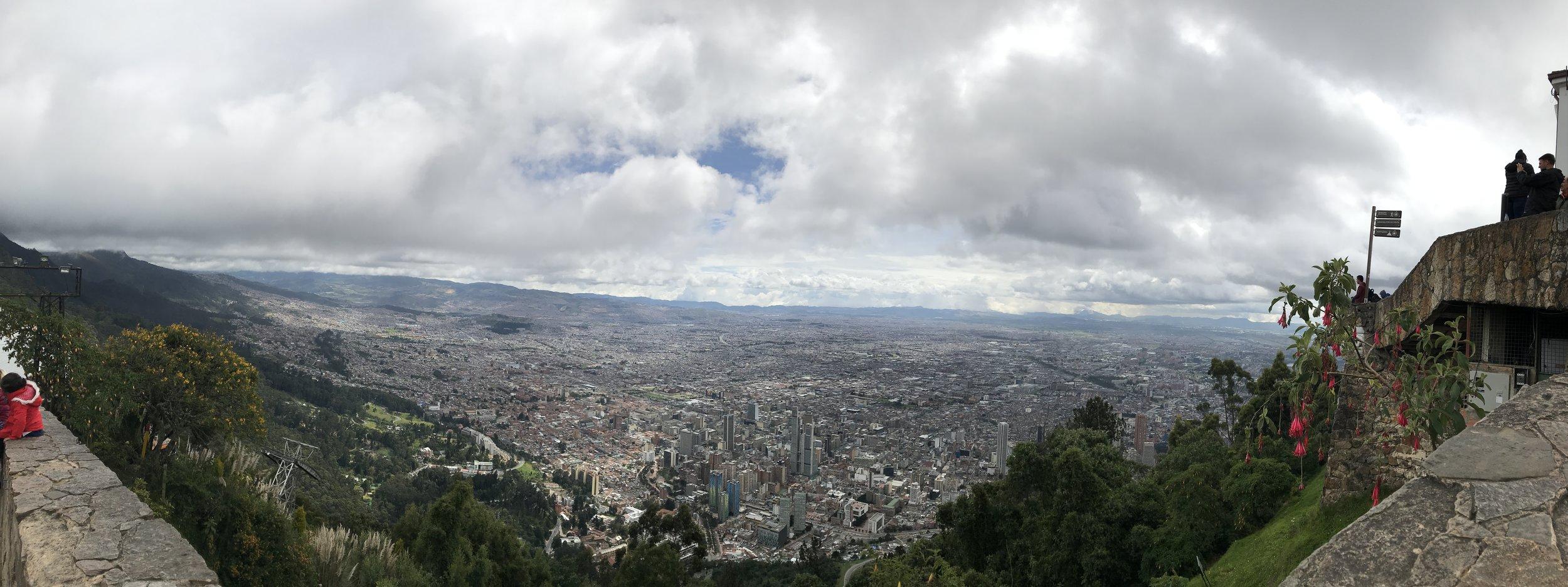 The view of Bogotà atop Montserrate