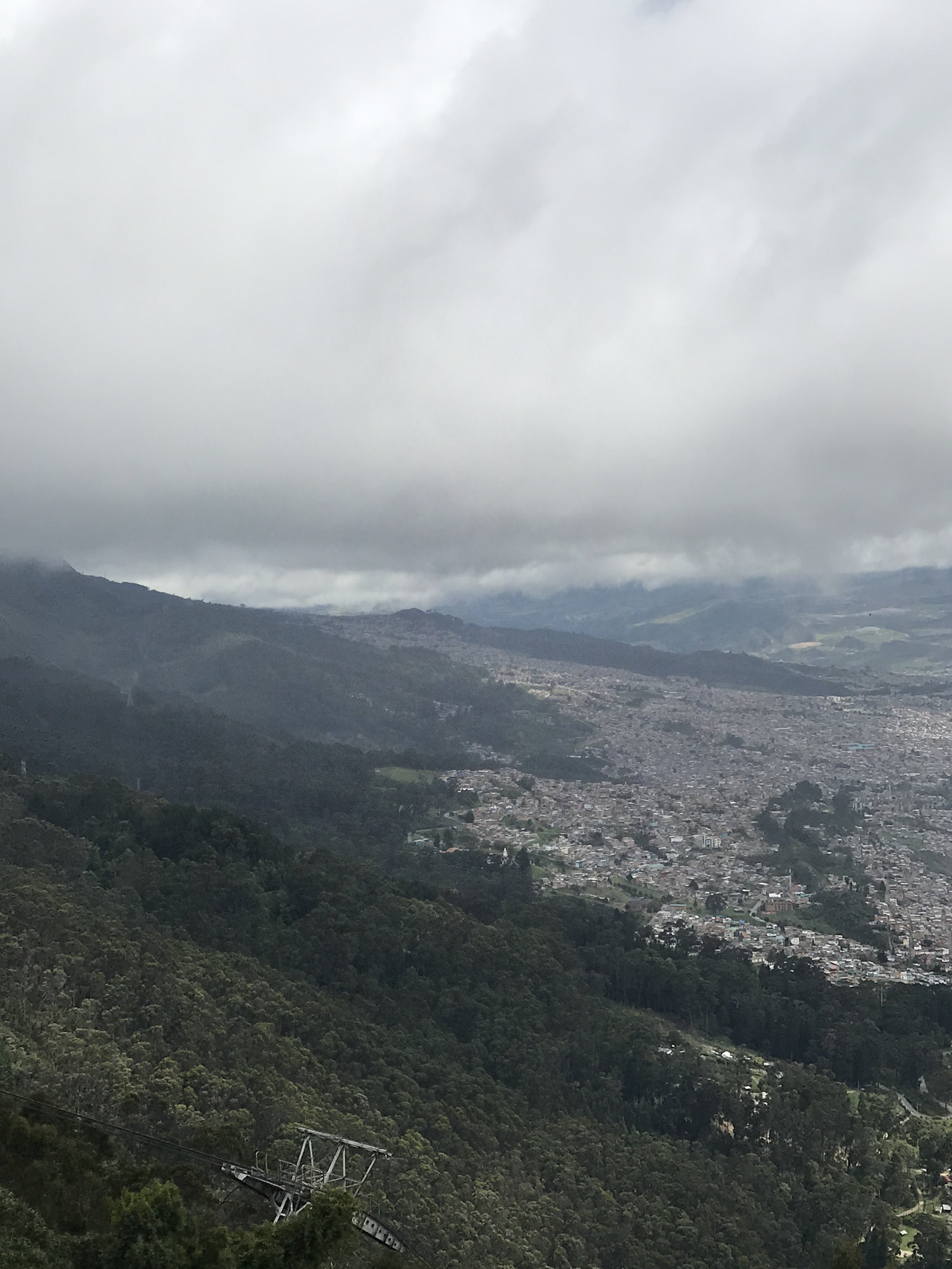 Another view of Bogotà from Montserrate
