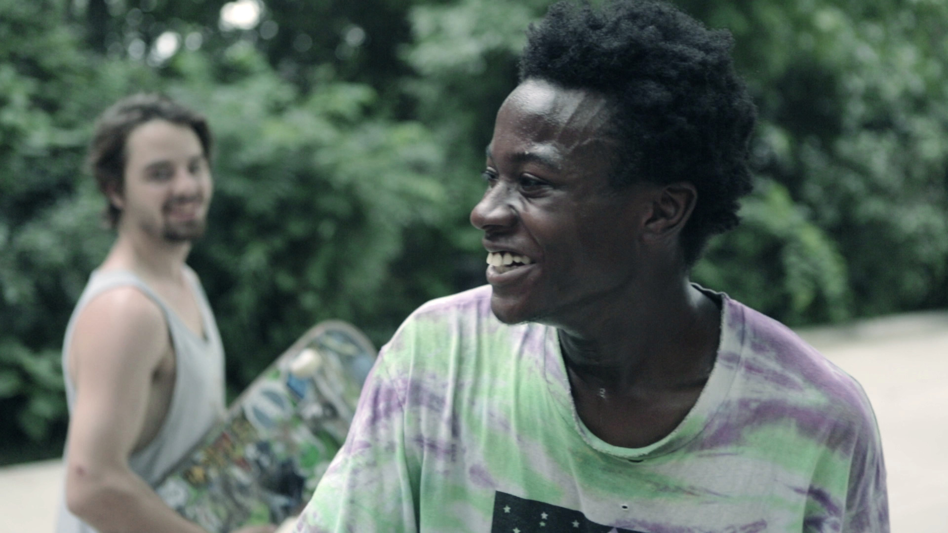 A still of Keire smiling from the documentary  Minding the Gap  (2018) directed by Bing Liu. Screening on Saturday, March 16th at 6 PM in UO's EMU Redwood Theater. Image courtesy of DisOrient Asian American Film Festival.