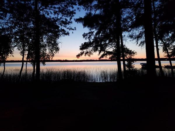 Twilight over Lake Ada