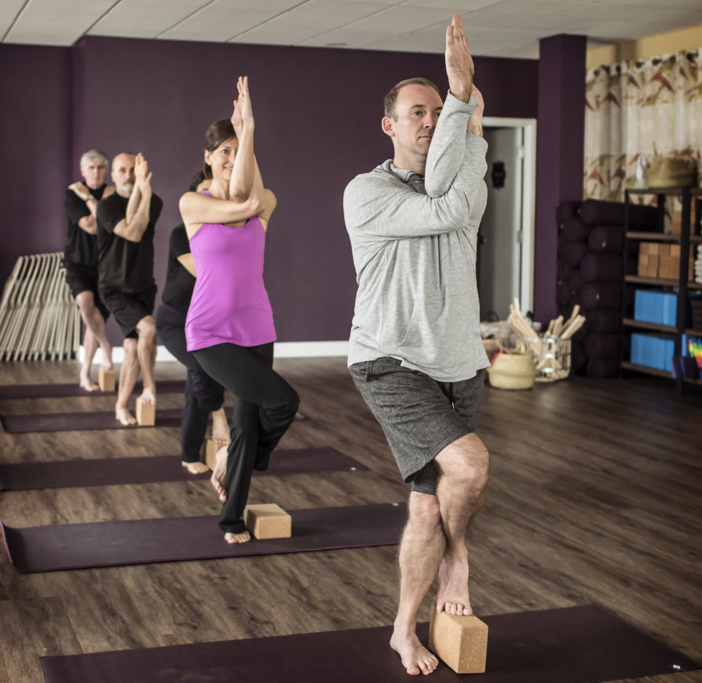 Gentle Yoga - Move through a gentle yoga class that will help you build strength, challenge your balance, and foster flexibility while learning to slow down and breathe. All levels of experience are welcome, including beginners. Flexibility is not required!