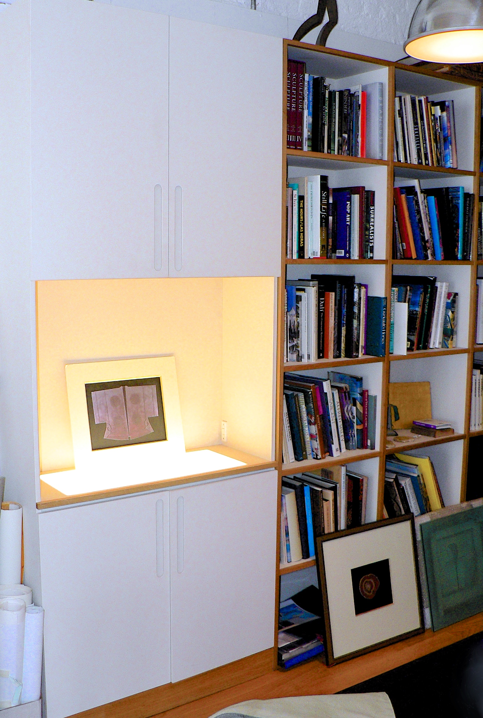 Cabinet, Library and Desk for corporate client
