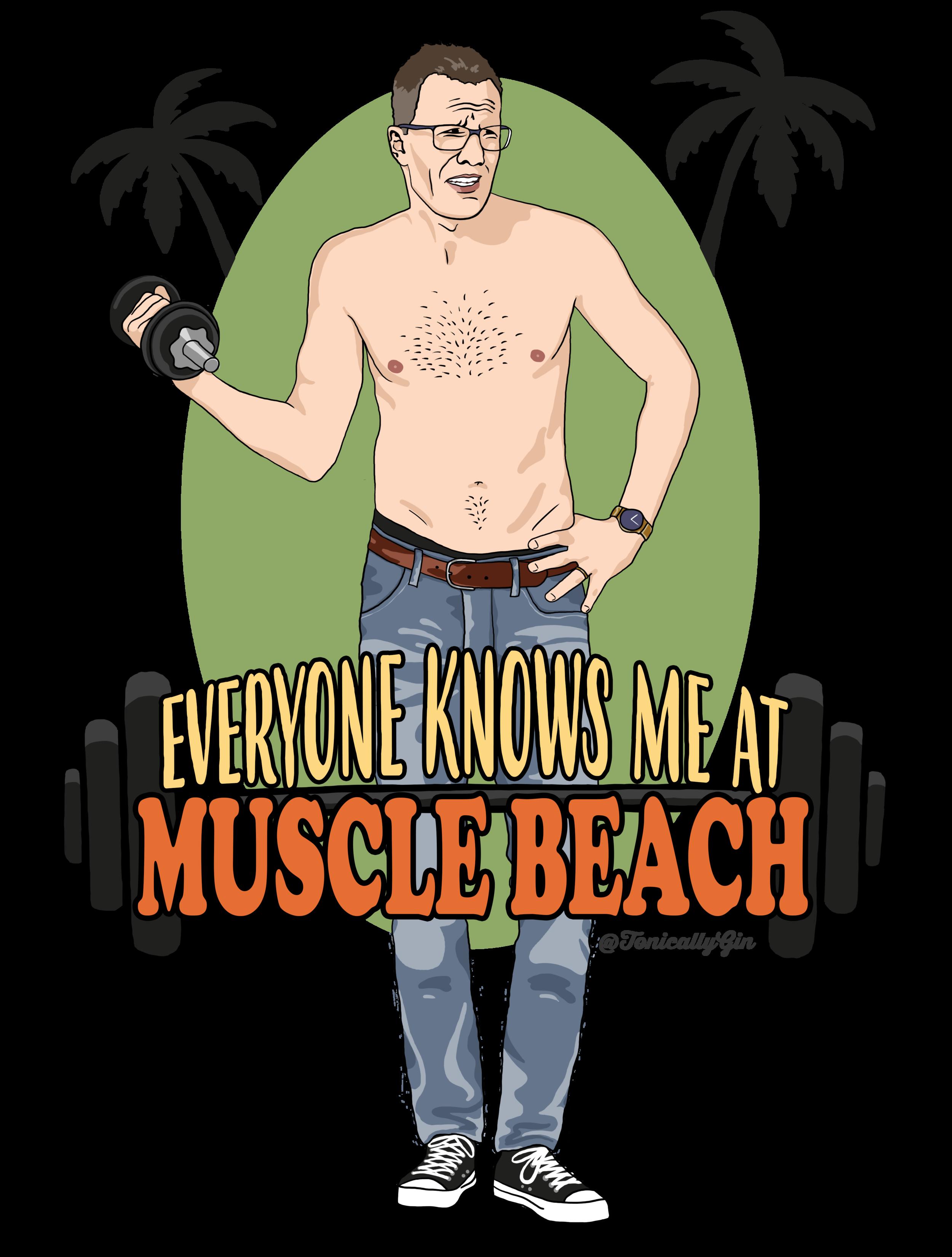 Mark Devine's Muscles - ViDiOTS star Mark Devine visits Muscle Beach