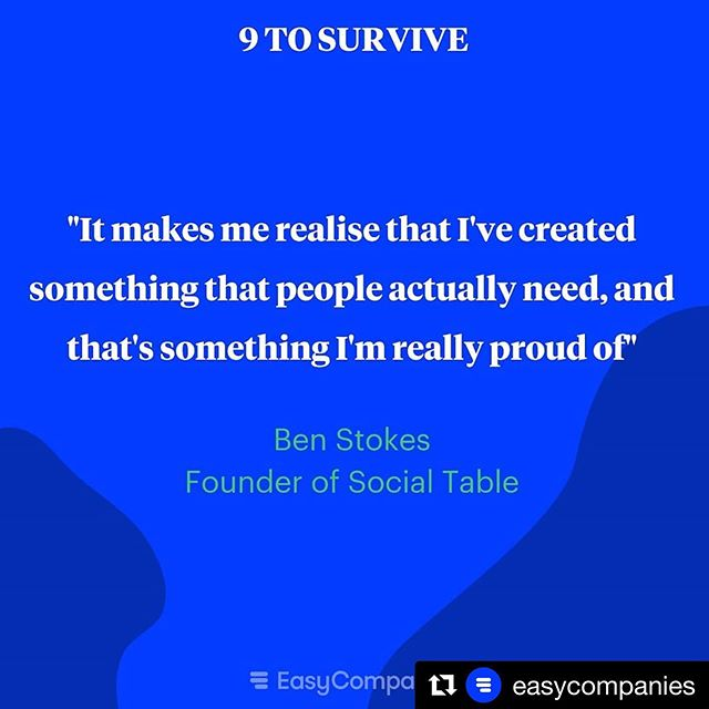 #Repost @easycompanies ・・・ SocialTable is a platform where people can come together to meet new friends, one meal at a time. All without the awkwardness of apps and high expectations.  Creating a product or service that your customers will need is the best value proposition you can offer!  Listen to Ben's episode on your favourite podcast app: https://linktr.ee/easycompanies