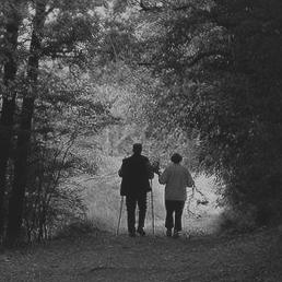 My Mum & Dad, out enjoying nature.