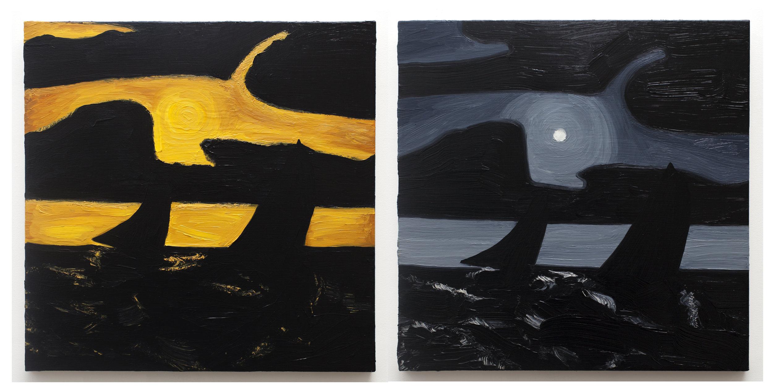 Moonlight Marine (Studies after Albert Pinkham Ryder)