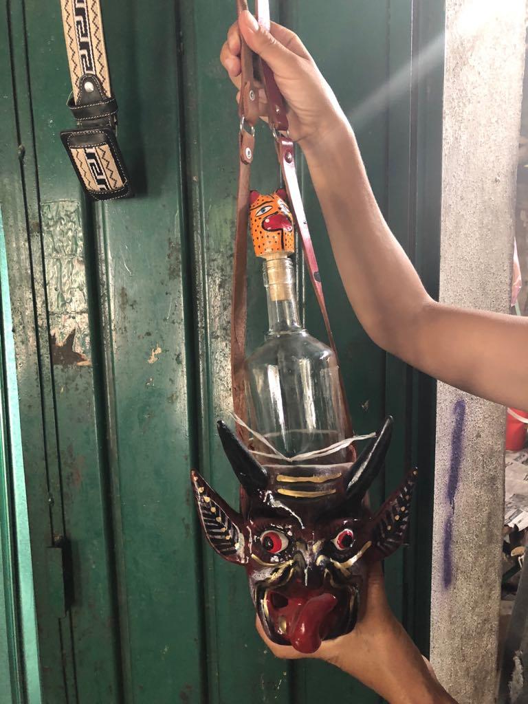 Devil Mask Bottle Carrier - $75