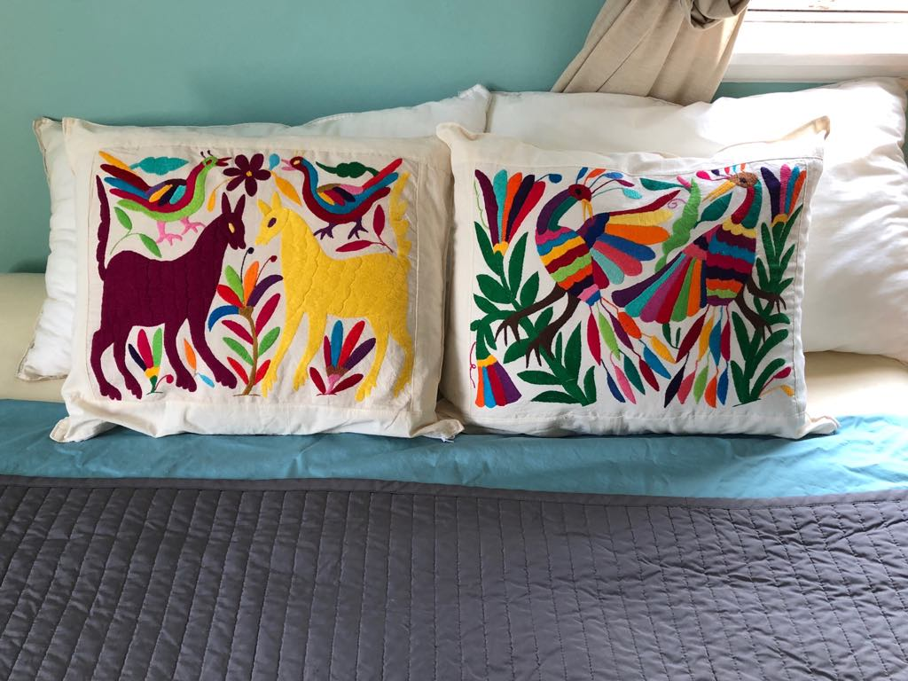 Oaxacan Embroidered Pillow Cases - $35 each