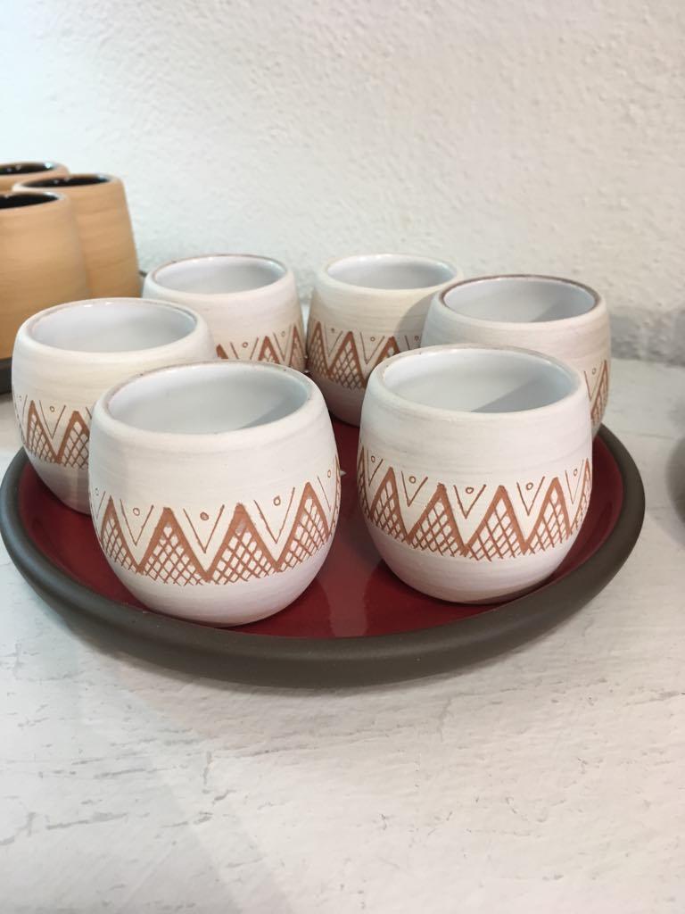Set of 6 mezcal copitas - $65