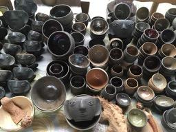 Ceramic mezcal copitas and coffee cups