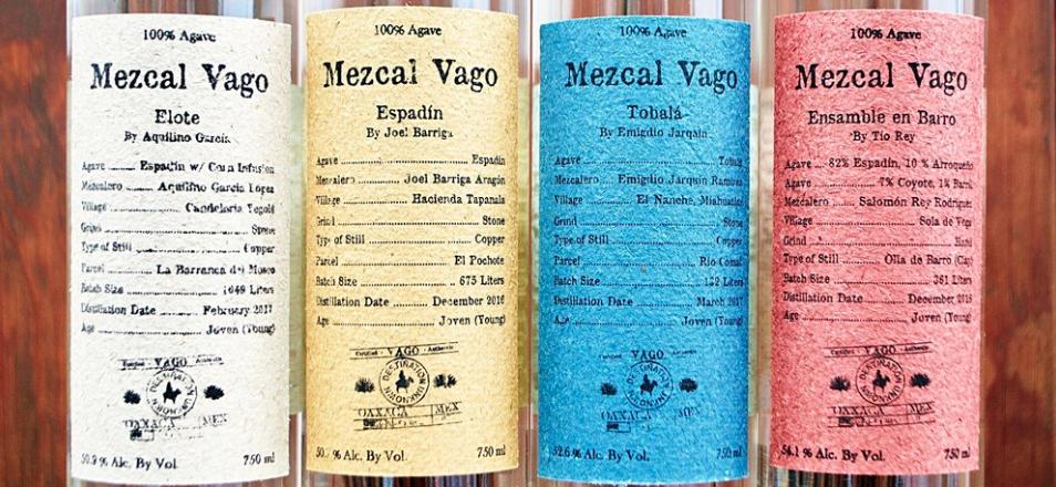 Mezcal Vago is a brand we have huge respect for. Photo from:  http://www.masmezcal.com/mezcalvago/2017/3/10/new-mezcal-vago-labels