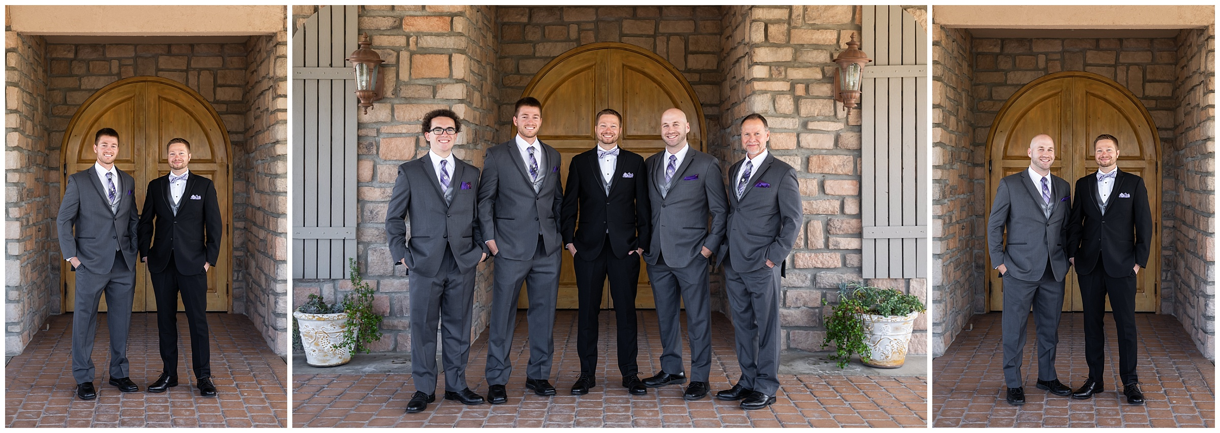 The guys looked so sharp! I loved the contrast of the grey and black.
