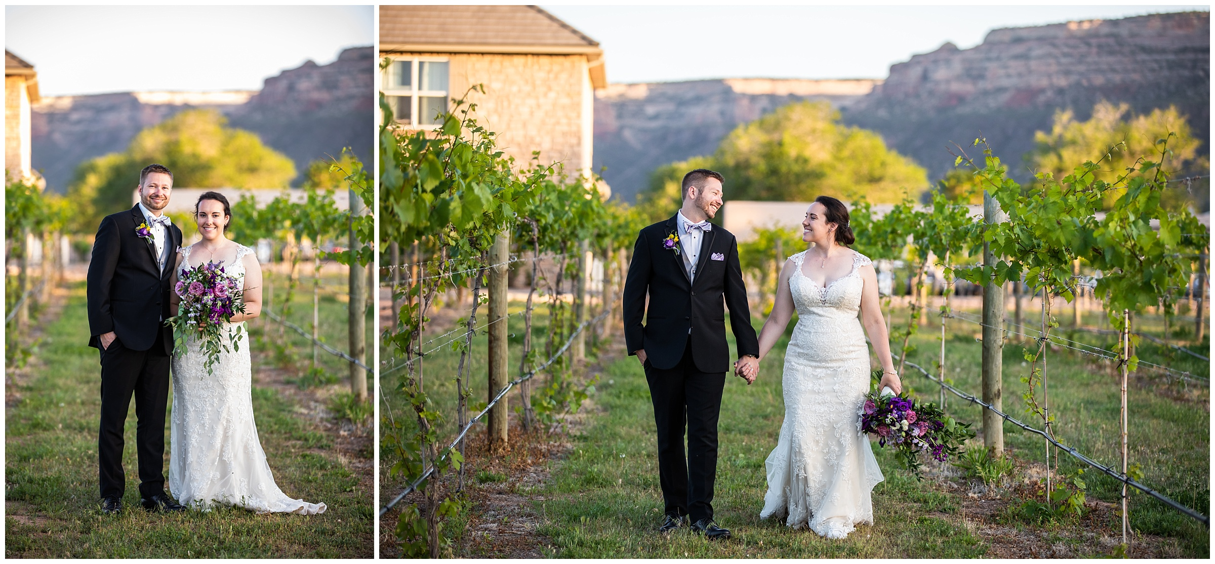 I always love grabbing the bride and groom for a few photos with that pretty evening light.