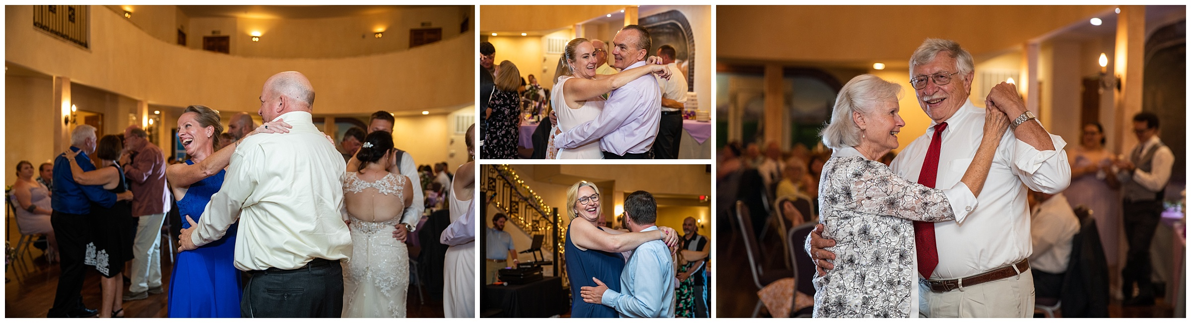 I am a sucker for the anniversary dance! I love this - it gets all the married couples on the floor, if for only a bit. Little by little, couples leave the dance floor according to how long they've been married. This dance was one for the books! There were still 4 couples remaining when they got to 50 years… wow! The longest married couple was the groom's grandparents, having been married 61 years! They gave the new couple a little advice…