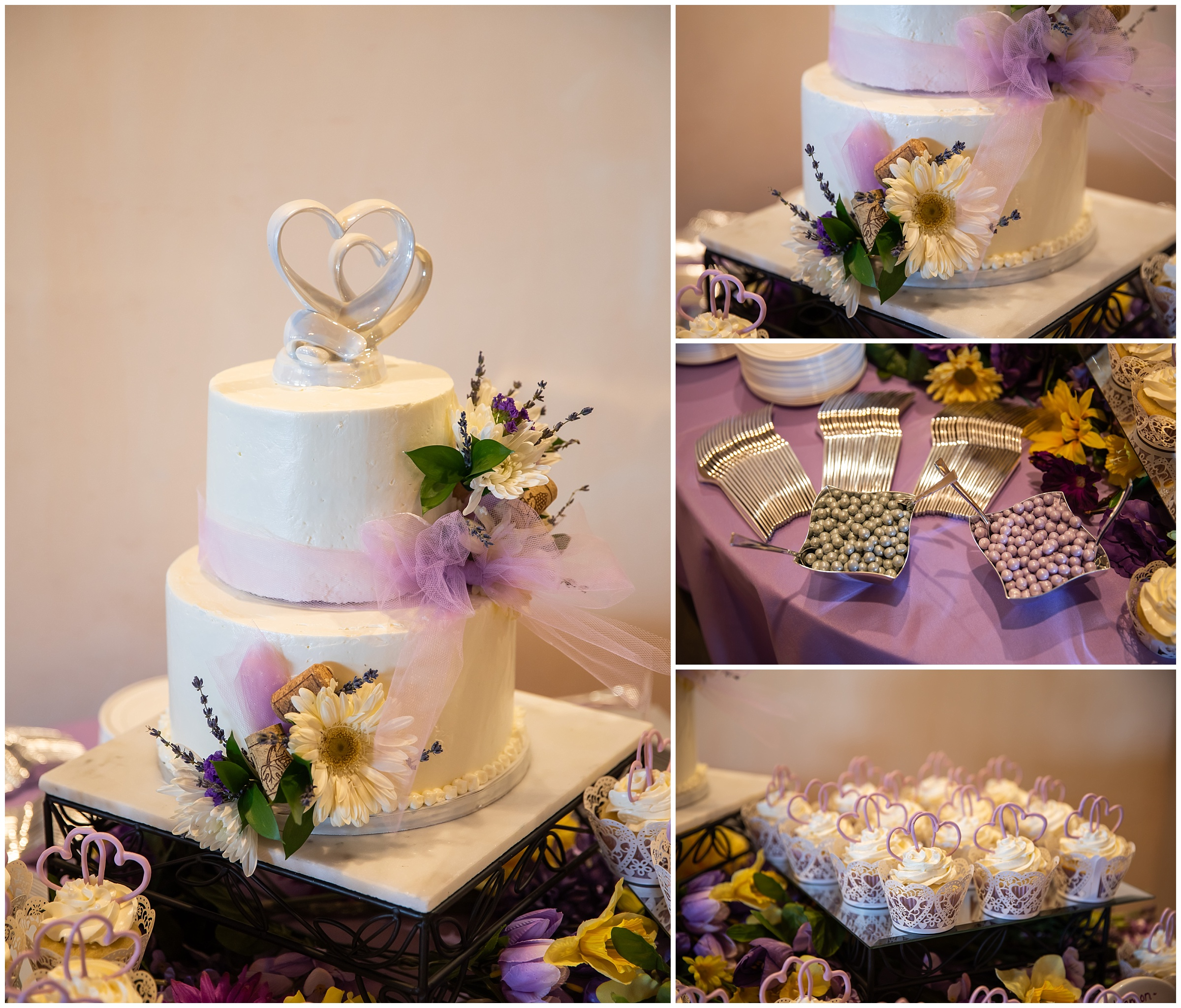 The cake and deserts were made by  Sweet by Design .