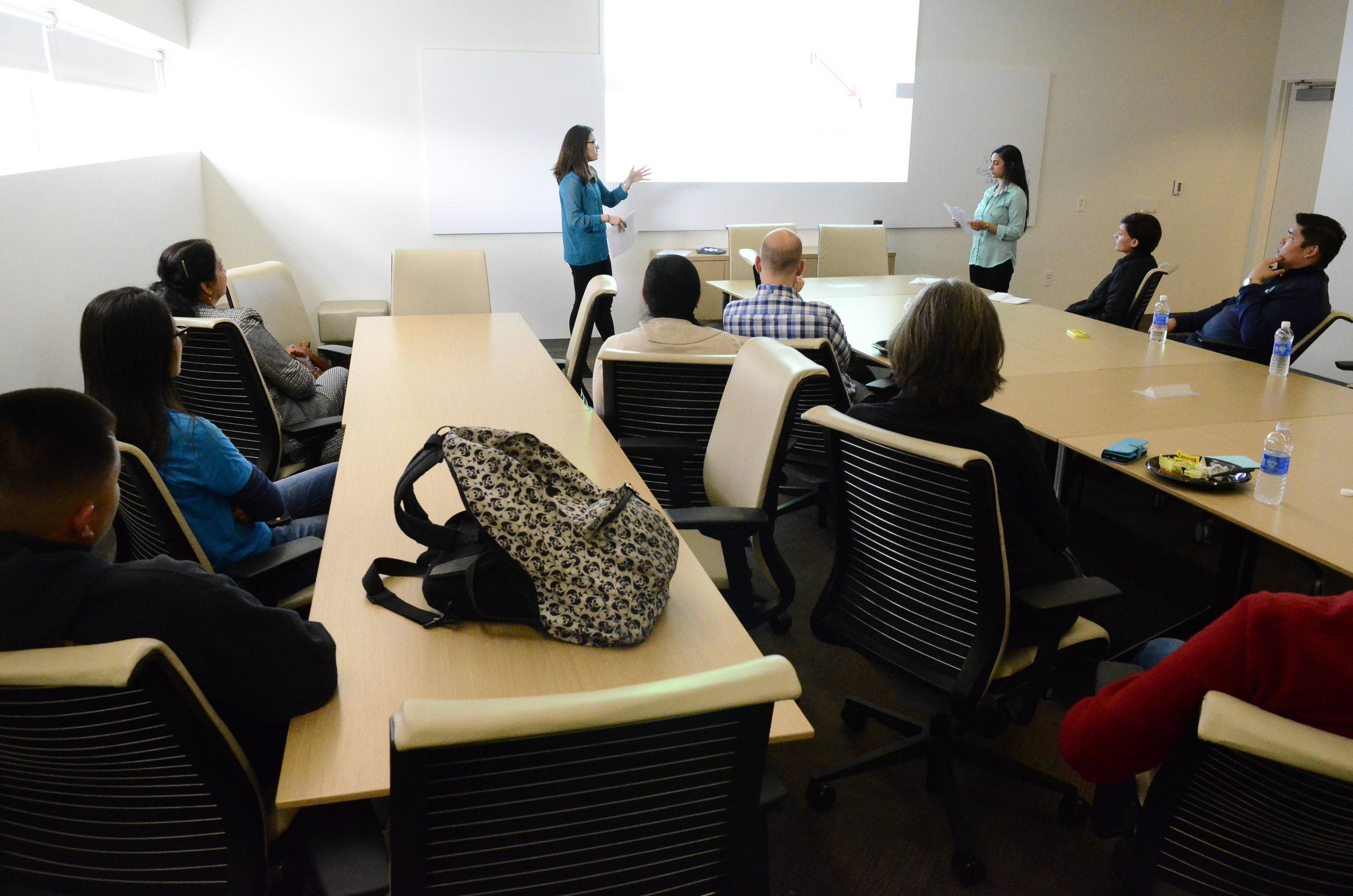 Sarah Tsutsui & Seema Prakash present their research to the Child and Family Science Research-in-Progress Group