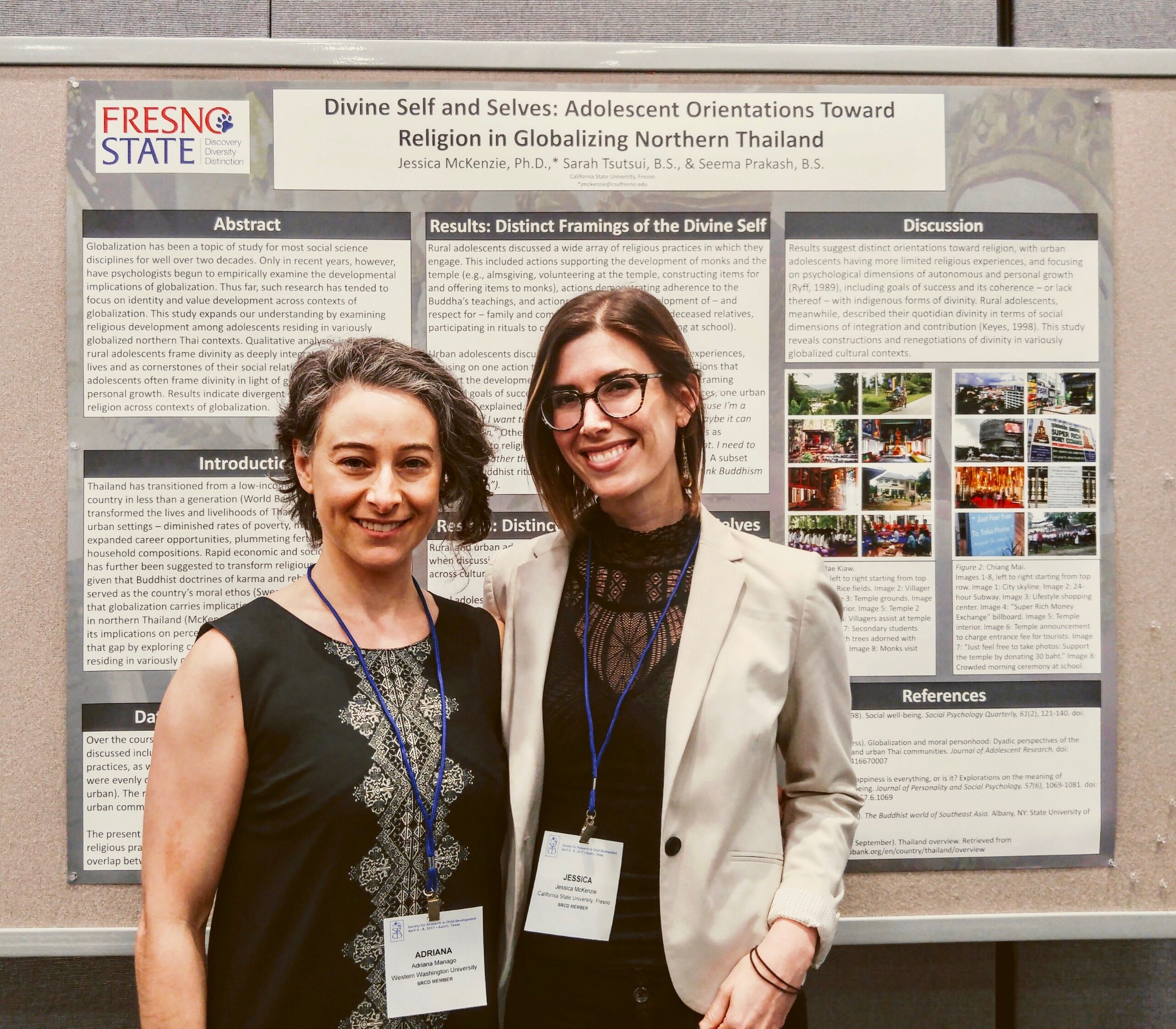 Dr. Adriana Manago (UC Santa Cruz) and Dr. Jessica McKenzie at The Upsides and Downsides of Globalization and Remote Acculturation for the Well-Being of Youth in the Majority World symposium