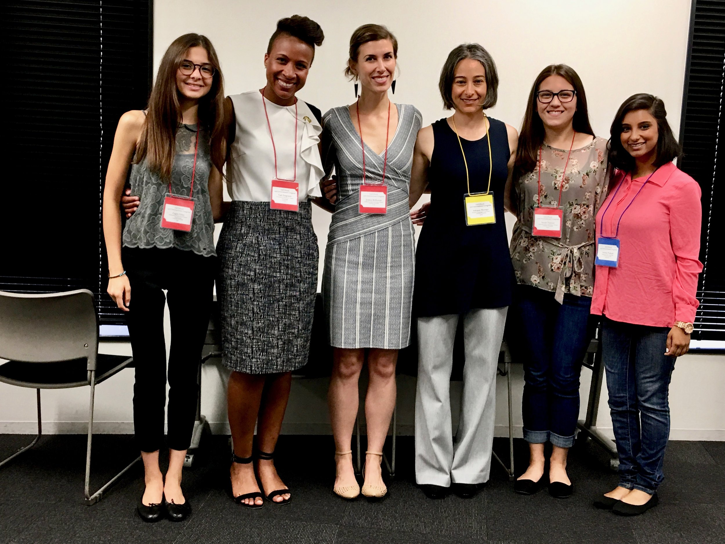 After Youth Development in Contexts of Globalization and Sociocultural Change symposium (with presentations from Drs. Ferguson, Manago, & McKenzie)  L-R: Cagla Giray (UIUC), Dr. Gail Ferguson (UIUC), Dr. Jessica McKenzie, Dr. Adriana Manago (UCSC), Sarah Tsutsui, & Seema Prakash