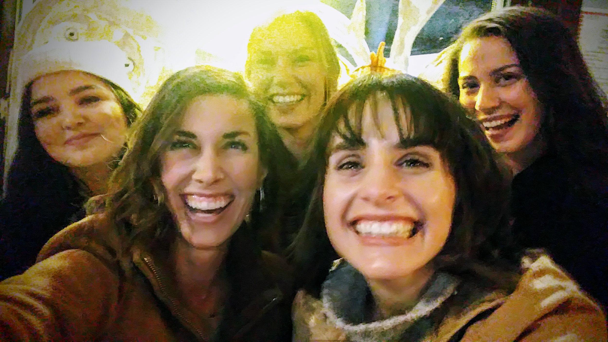 HD&C Lab End-of-Semester Gathering (Fall 2017)  L-R: Cristina Landeros, Dr. McKenzie, Cassandra Stewart, Emma Willis, & Rachel Castellón