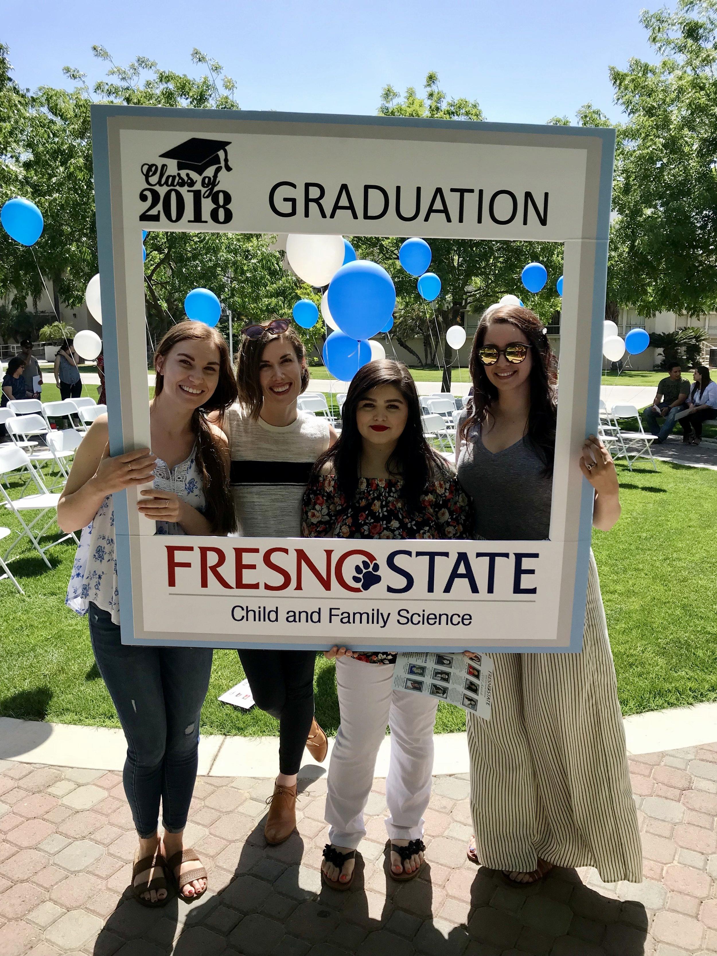 L-R: Cassandra Stewart, Dr. McKenzie, Cristina Landeros, & Rachel Castellón