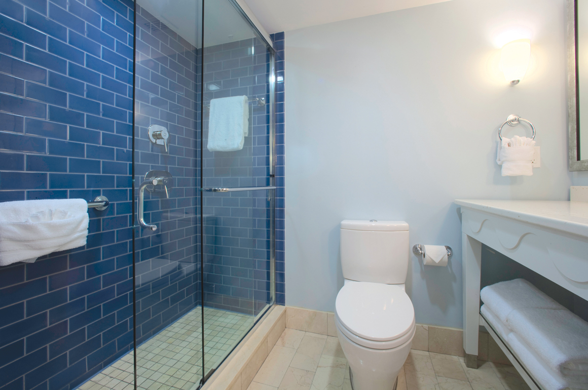Enjoy fine appointments, His and Her's spacious vanities, marble surrounds and vanities in most guest rooms.