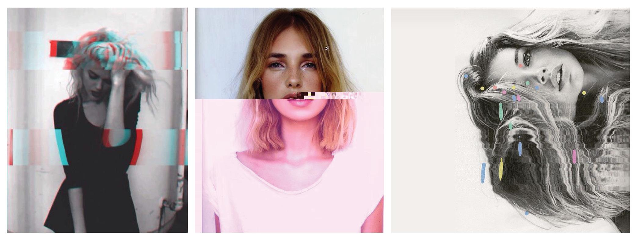Glitch photography trend