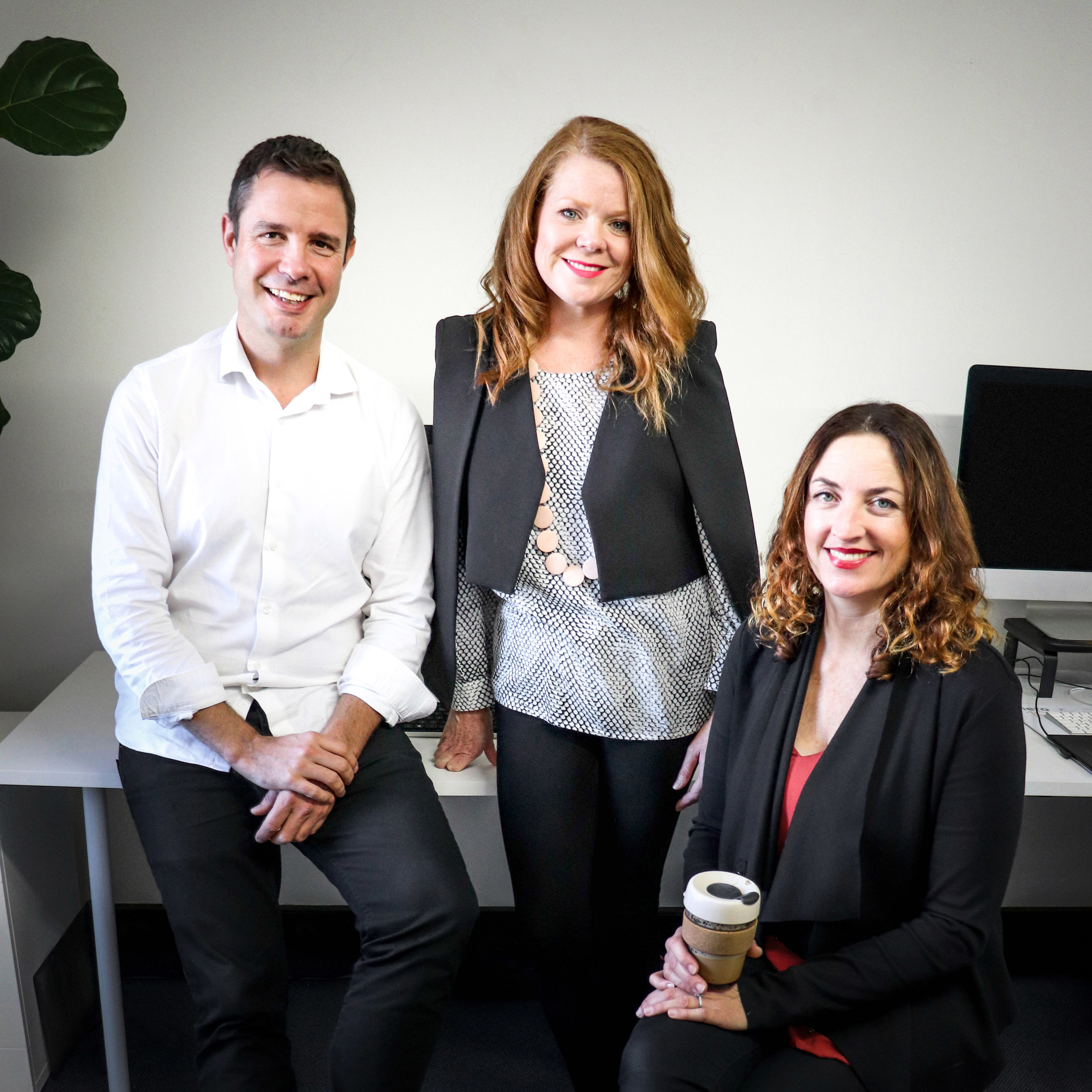 (L-R) Dan Clark - Design Director, Kylie Gould - Founder & Creative Director, Louise Thomas - Brand Strategist.