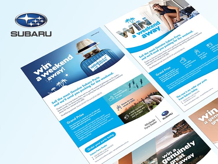 SUBARU AUSTRALIA MARKETING MATERIAL, MOTORSPORT CAR LIVERY & MERCHANDISE