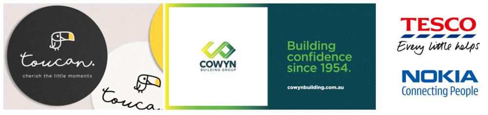 Image credit: Creatik and  Toucan  /  Cowyn Building Rebrand /  Pinterest  /  Nokia UK