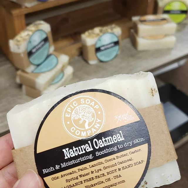 I love bar soap, especially all natural ones with the best ingredients available!  Stop on in to check out the scents created by Epoc Soap Co. using essential oils!