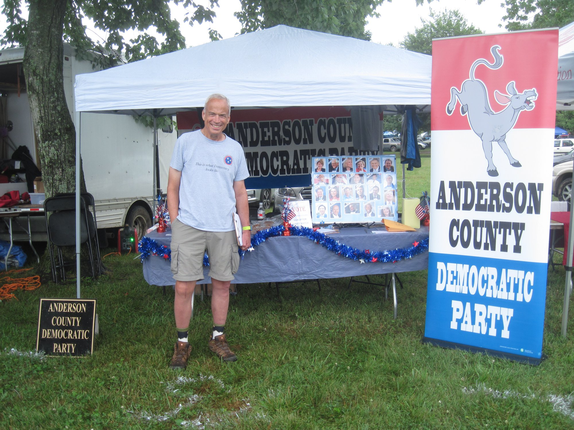 Chair Eric Keller is ready to engage with Anderson County Residents at the Secret City Festival.