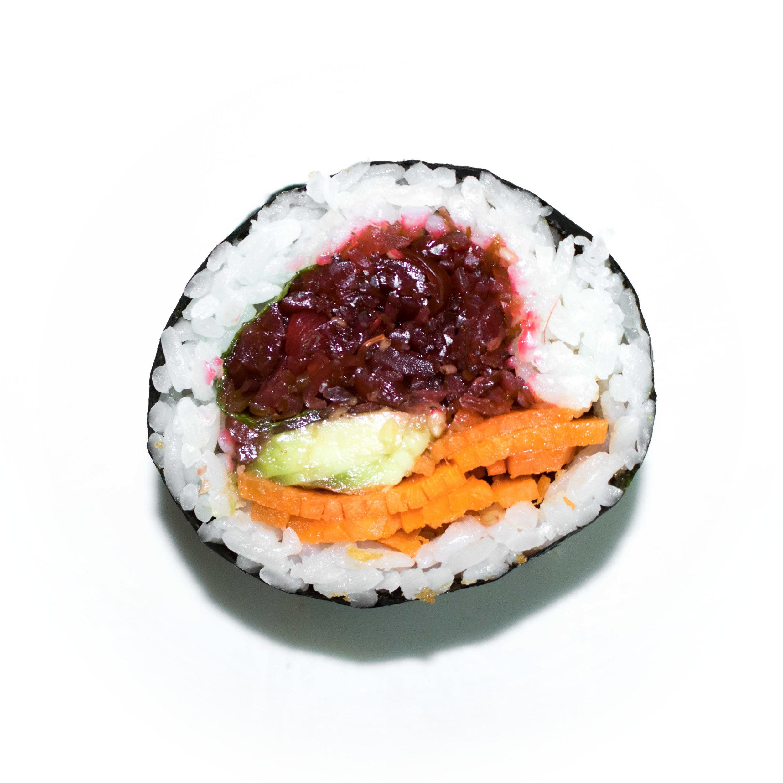 spicy seaweed uramaki