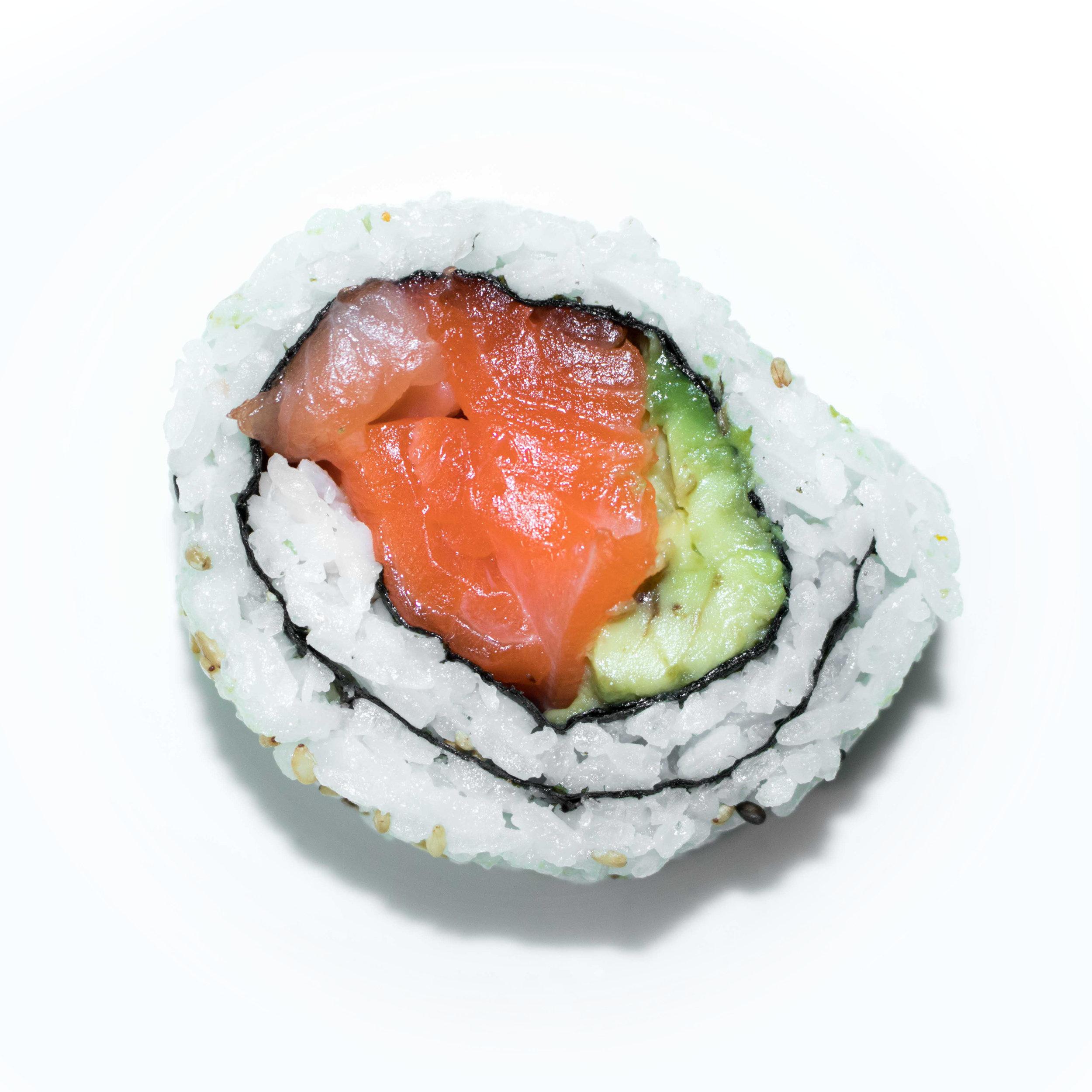 salmon avocado uramaki
