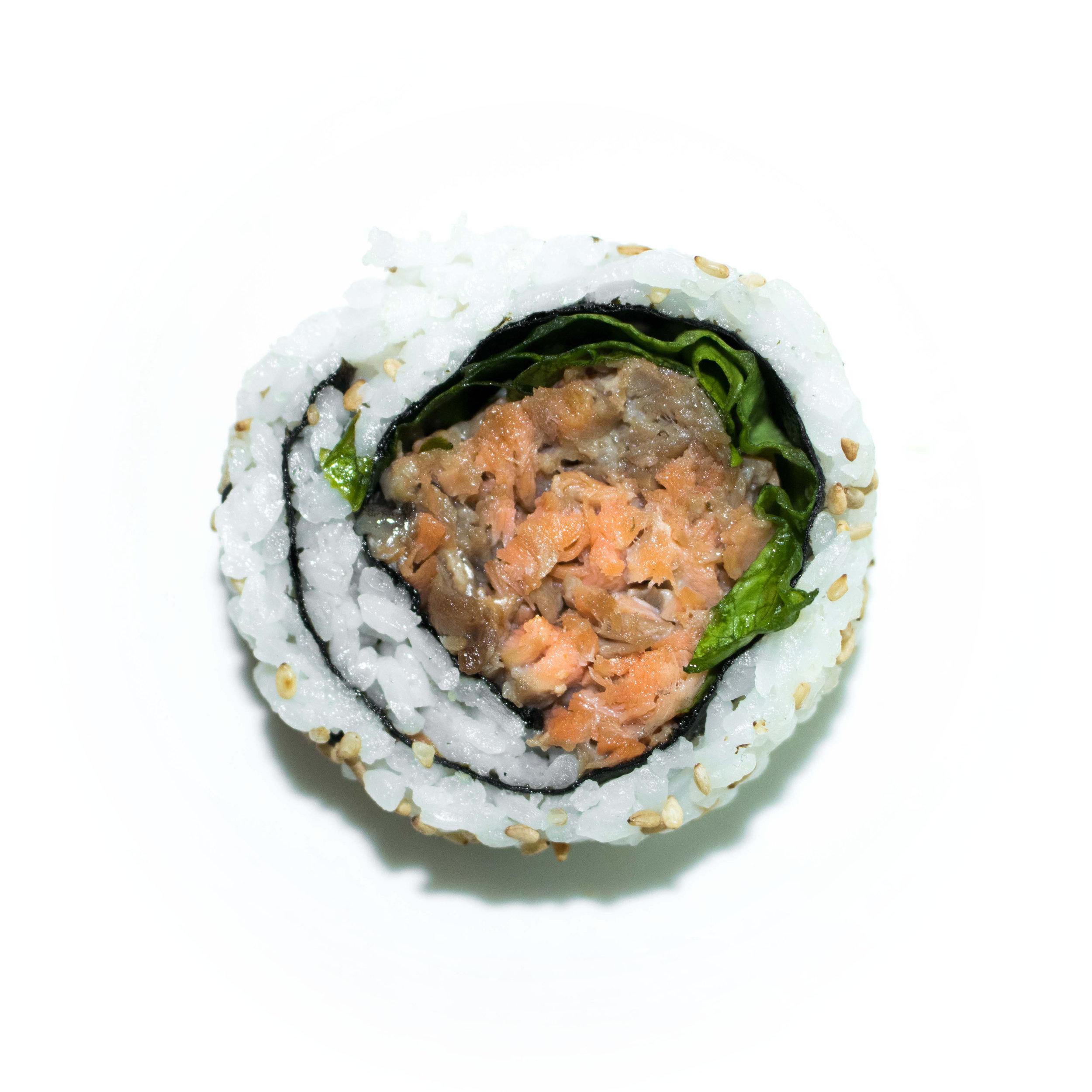 teriyaki salmon uramaki