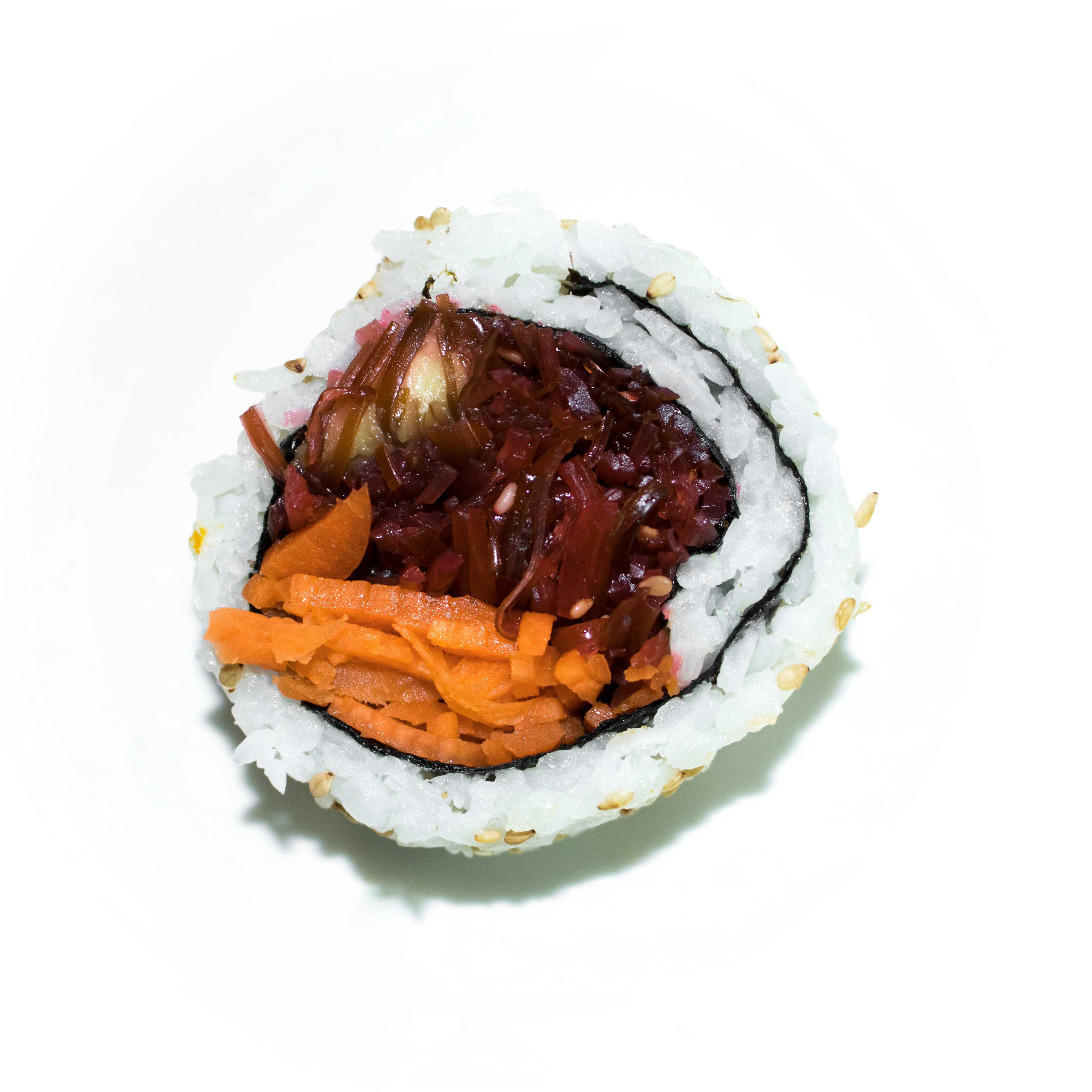 spicy seaweed salad uramaki