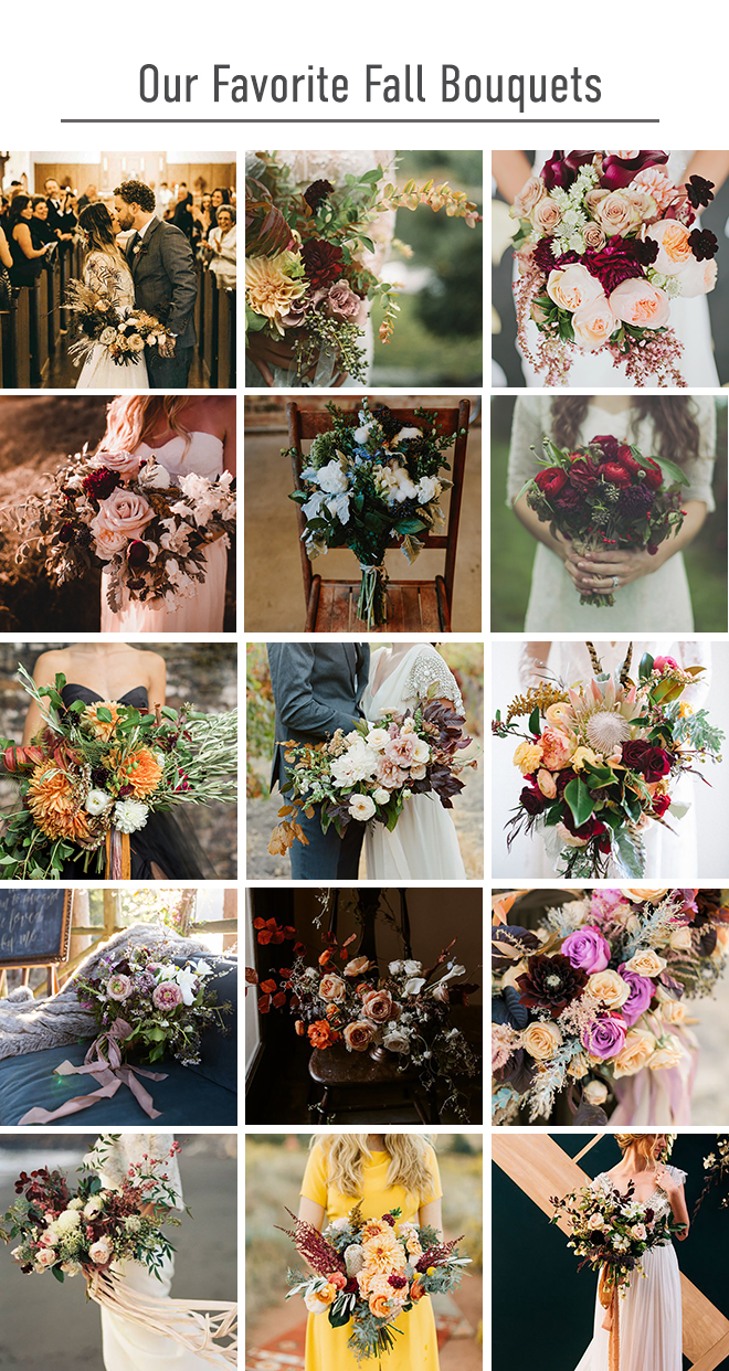Best Fall Wedding Bouquets