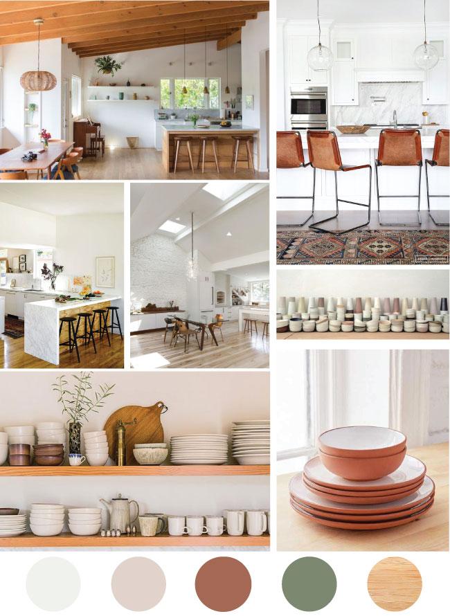 Wood & White Kitchen