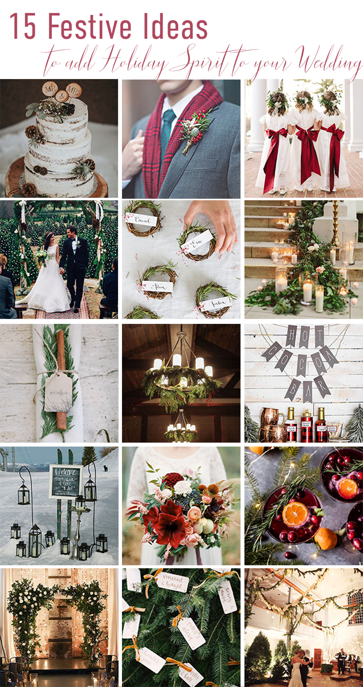 15 Christmas Wedding Ideas
