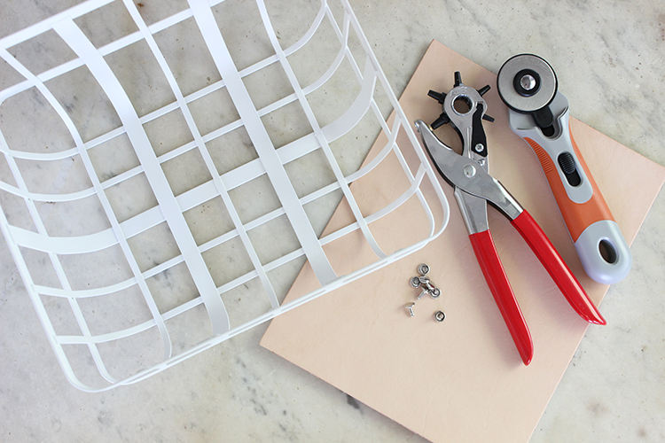 DIY custom modern storage baskets