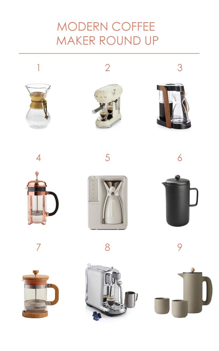 Modern Coffee Maker Round Up