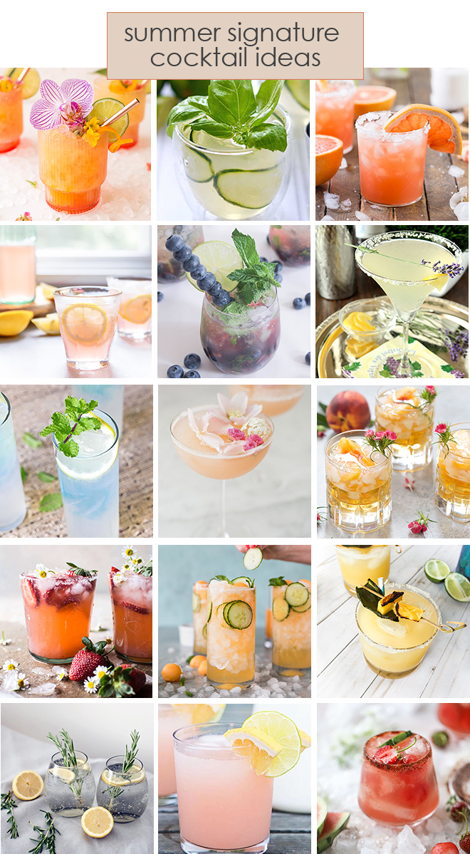Signature Cocktails for Summer Weddings