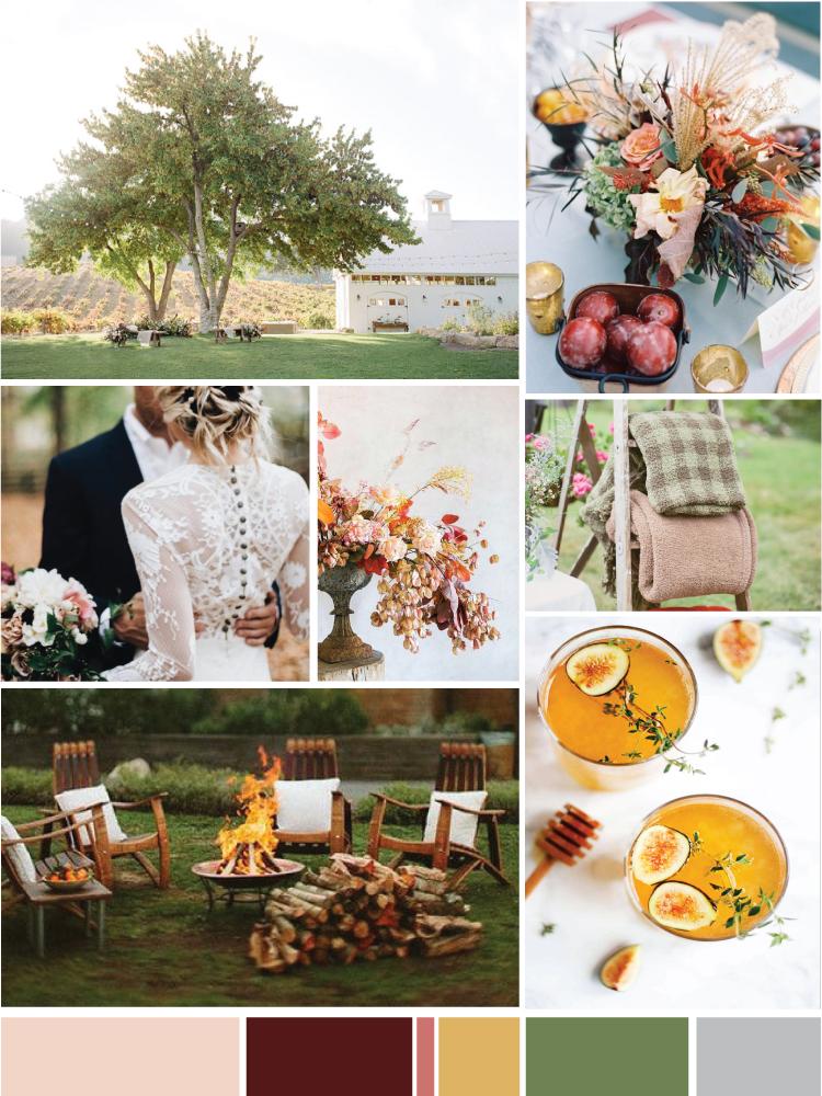 Cozy September Wedding Mood Board