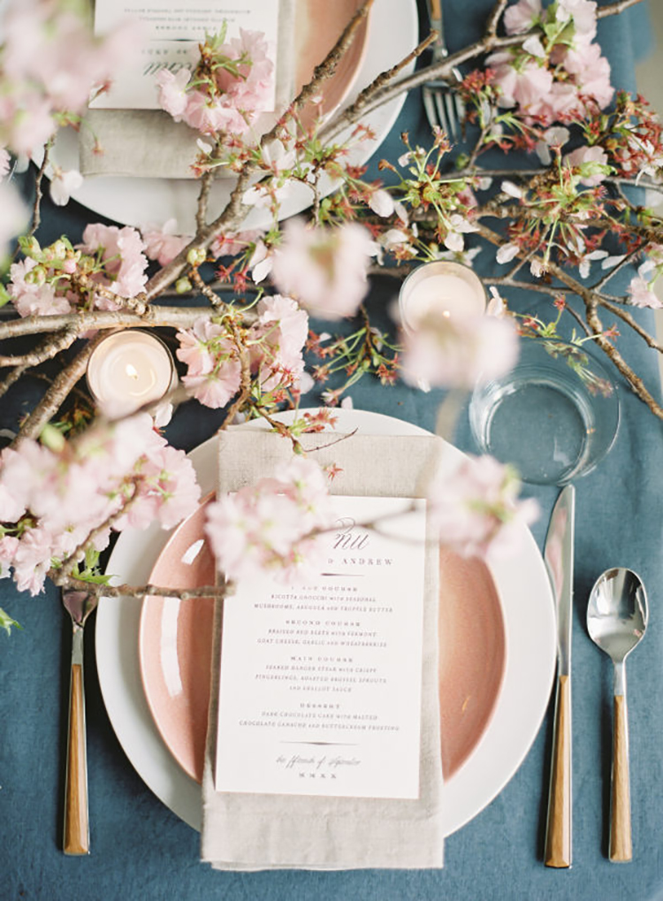 Blush and Blue Tablescape